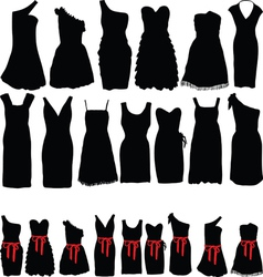 Dresses for parties vector