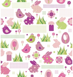 Seamless pattern for easters design vector