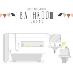 White background bathroom vector