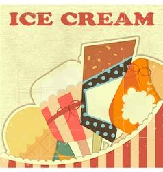 Ice Cream Retro color vector image