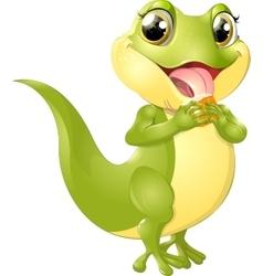 Beautiful green lizard vector