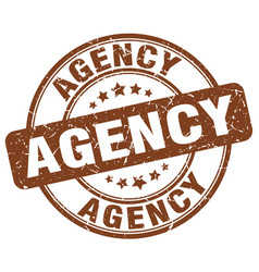 Agency brown grunge stamp vector