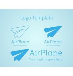 Airplane - logo concept Aircraft vector image vector image