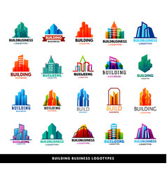 Architecture buildings geometry silhouette vector