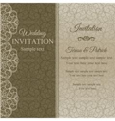 Baroque invitation dull gold vector image