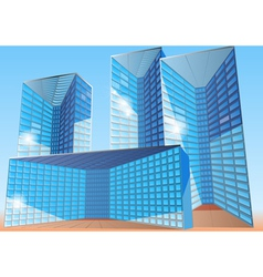 business office building vector image
