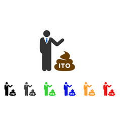 Businessman show ito shit icon vector