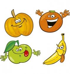 cartoon fruits vector image