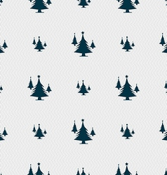 coniferous forest tree fir-tree icon sign Seamless vector image