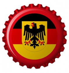 german bottle cap vector image vector image