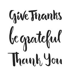 Grateful Lettering vector image vector image