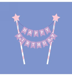 Happy birthday decoration cake topper vector