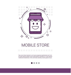 Mobile store online shopping market application vector