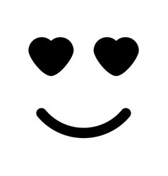 Smile with heart eyes vector