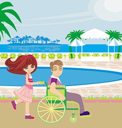 vacation in a tropical resort vector image vector image
