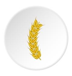 Wheat icon cartoon style vector