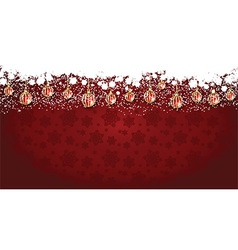 Widescreen Christmas background vector image vector image