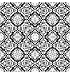 Black and white geometric seamless patterns vector