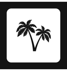 Palms icon simple style vector image