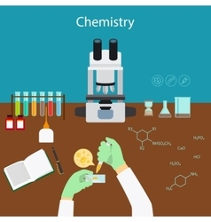 Chemistry research in laboratory vector