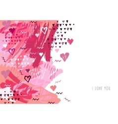 Love card red background for Valentine Day vector image