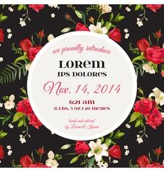 Invitation or Congratulation Card for Wedding vector image
