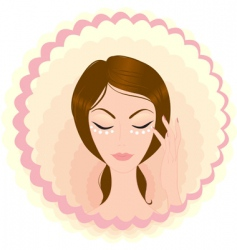 face beauty vector image