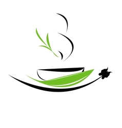 Cup of tea icon vector