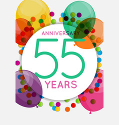 Template 55 years anniversary congratulations vector