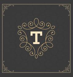 Ornament logo design template decoration vector