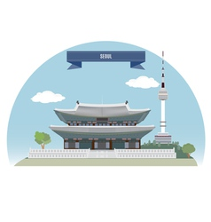 Seoul vector image