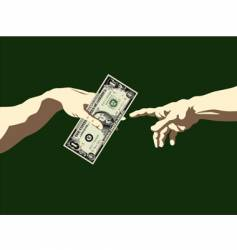 Creation of adam dollar vector
