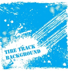 Blue tire track backgound vector