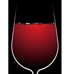 Glass of red wine with backlighting vector