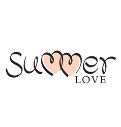 summer love hand lettering vector image