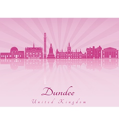 Dundee skyline in purple radiant orchid vector