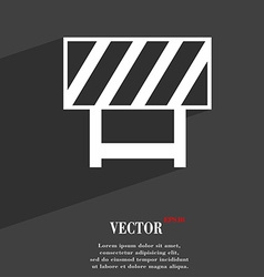 Road barrier icon symbol flat modern web design vector