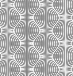 3d vertical striped waves vector