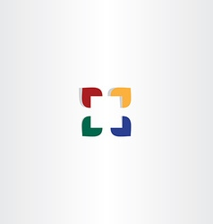 Abstract color square business logo icon vector
