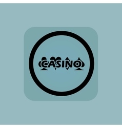 Pale blue casino sign vector