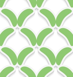 Green simple shapes on white pattern vector