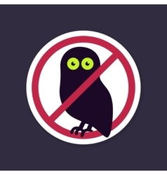 No ban or stop signs halloween owl icon vector