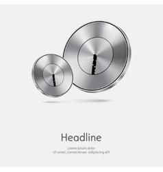 Metal door lock background vector image