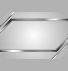 Concept abstract technology metallic vector
