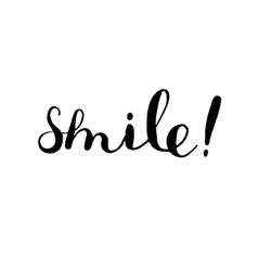 Smile brush lettering vector