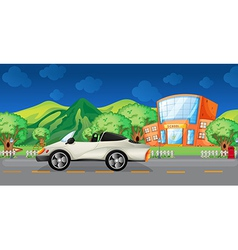 An elegant sports car at the road vector image vector image