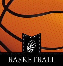 basketball emblem vector image
