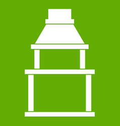 bbq grill icon green vector image