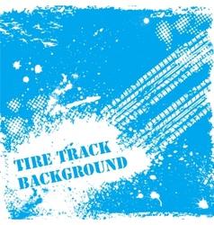 Blue tire track backgound vector