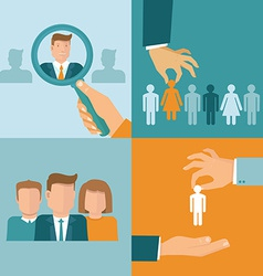 Business and employment concepts in flat style vector